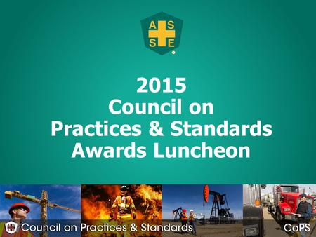 2015 Council on Practices & Standards Awards Luncheon 1.