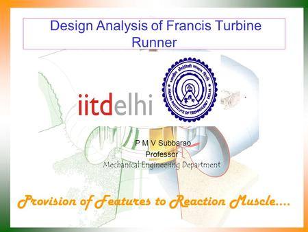 Design Analysis of Francis Turbine Runner