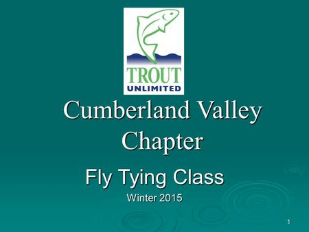 1 Cumberland Valley Chapter Fly Tying Class Winter 2015.