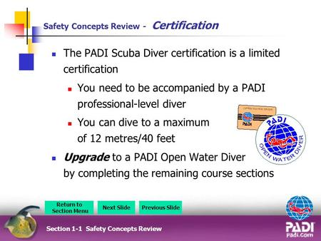 Safety Concepts Review - Certification