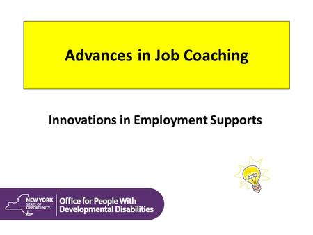 Advances in Job Coaching