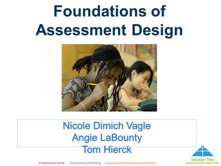 Foundations of Assessment Design