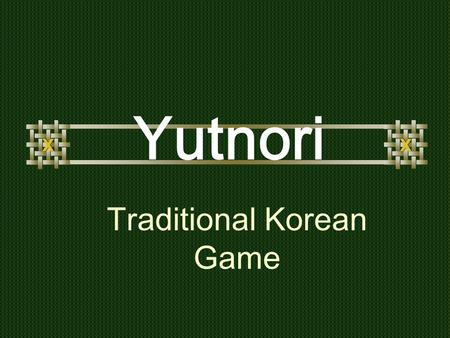 Traditional Korean Game