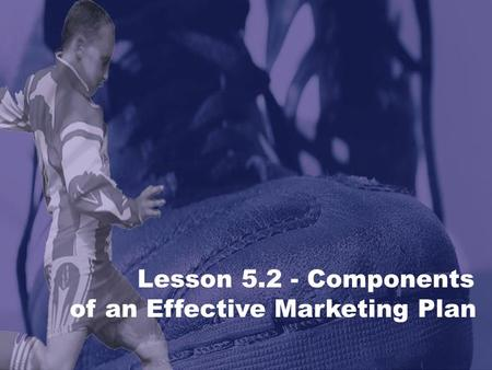 Lesson 5.2 - Components of an Effective Marketing Plan.