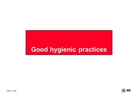 Good hygienic practices FS0801 12000. Good Manufacturing Practices (GMP) That combination of manufacturing and quality control procedures aimed at ensuring.