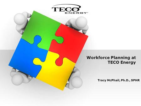 Workforce Planning at TECO Energy Tracy McPhail, Ph.D., SPHR.