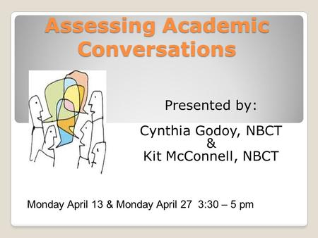 Assessing Academic Conversations