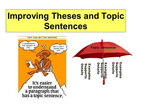Improving Theses and Topic Sentences