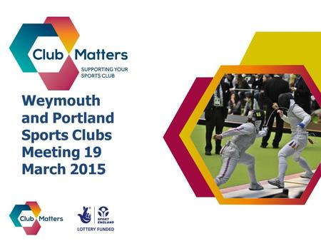 Weymouth and Portland Sports Clubs Meeting 19 March 2015.