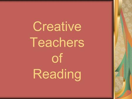 Creative Teachers of Reading. Key Stage 3 Ideas [A] Reassembling a cartoon strip [B] Reading carousel on 'School life' [C] Reading record diaries [D]