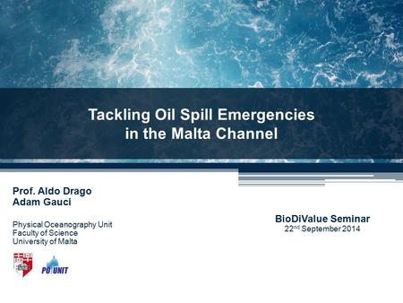 Tackling Oil Spill Emergencies