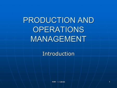 The IT Operations Management Architecture Framework: An Introduction
