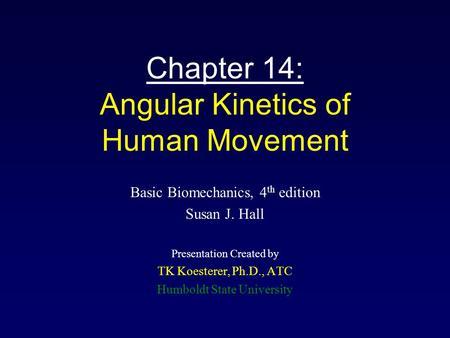 Kinetics of human motion zatsiorsky