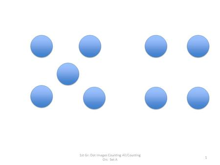 1st Gr: Dot Images Counting All/Counting On: Set A