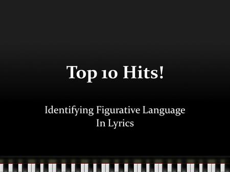 Identifying Figurative Language In Lyrics