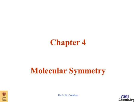 Chapter 4 Molecular Symmetry