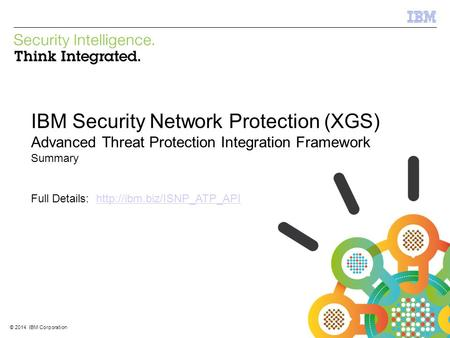 IBM Security Network Protection (XGS)