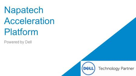 Napatech Acceleration Platform Powered by Dell. 2 Dell - Restricted - Confidential Accelerate Performance and Time-to-Market On October 21 st Napatech.