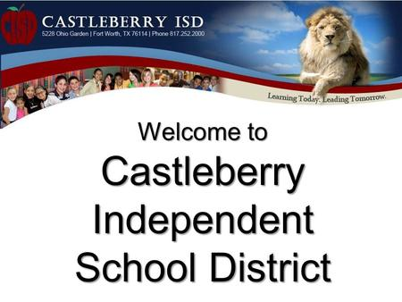 Welcome to Castleberry Independent School District.