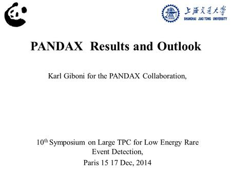 PANDAX Results and Outlook