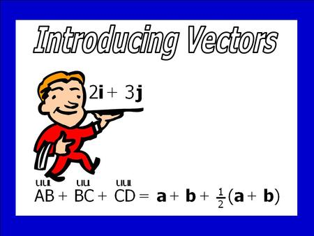 Introducing Vectors © T Madas.