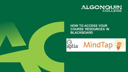 How to access your course resources in blackboard