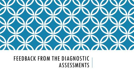 FEEDBACK FROM THE DIAGNOSTIC ASSESSMENTS. STAND ALONE TEXT Should be in analytical paragraph format. Aim for 250-350 words Make sure your quotes are integrated.