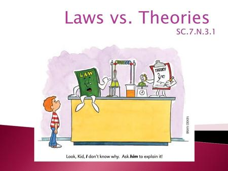 Laws vs. Theories. What is a Scientific Law? A scientific law is a description of an observed phenomenon. It offers no explanation to why they are that.