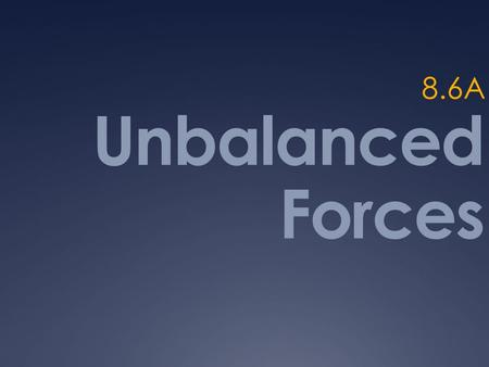 Unbalanced Forces 8.6A Net Force  Key Terms 1. Force 2. Balanced Force 3. Unbalanced Force 4. Net Force 5. At rest 6. Direction 7. Motion 8. Friction.