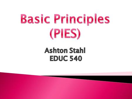Basic Principles (PIES)