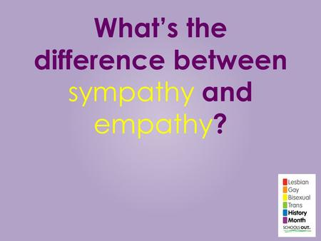What's the difference between sympathy and empathy?