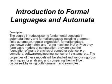 Context-free language