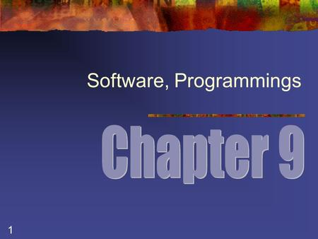 1 Software, Programmings. 2 Types of Software Figure 9.1 Shakeel Ahmad.