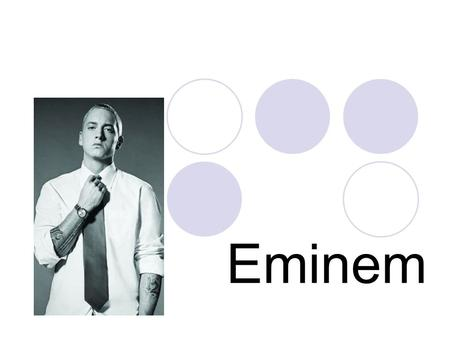 Eminem. Eminem Eminem is the stage name of Marshall Bruce Mathers III (born October 17, 1972), one of today's most controversial and popular hip hop musicians.