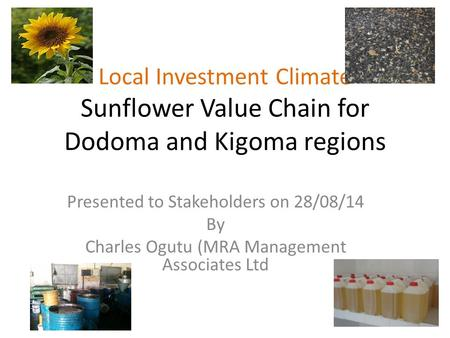 Presented to Stakeholders on 28/08/14 By