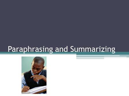 Is summarizing plagiarism
