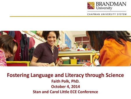 Fostering Language and Literacy through Science