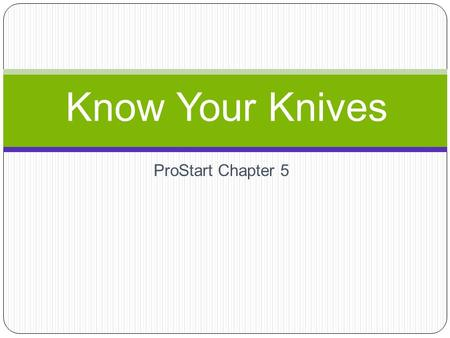 ProStart Chapter 5 Know Your Knives. What is this? Tourne: Cutting the curved surfaces of vegetables Similar to a paring knife.