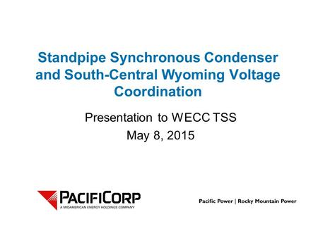 Presentation to WECC TSS May 8, 2015