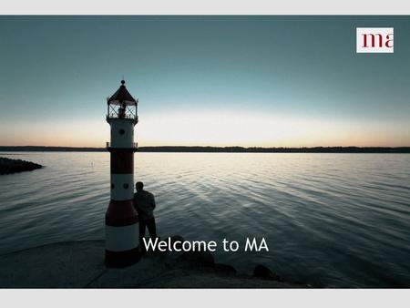 "Welcome to MA. Today's programme INTRODUCTIONAL MEETING  MA Odense  Services  Availability and job search  MA, job center and ""anden aktør""  Activation."
