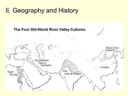 II. Geography and History. A. Themes of geography.