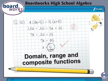 Domain, range and composite functions