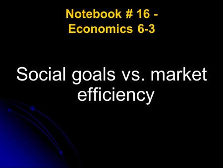 Notebook # 16 - Economics 6-3