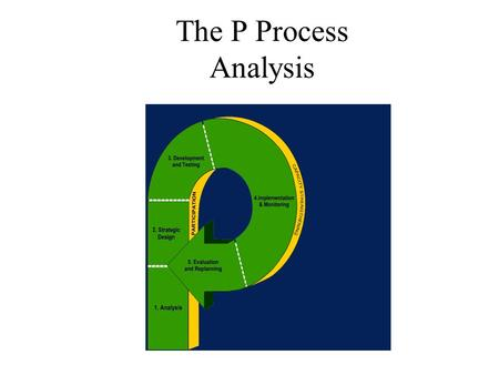 The P Process Analysis. Presentation Objectives By the end of this session you should be able to: explain the rationale for conducting a situation analysis;