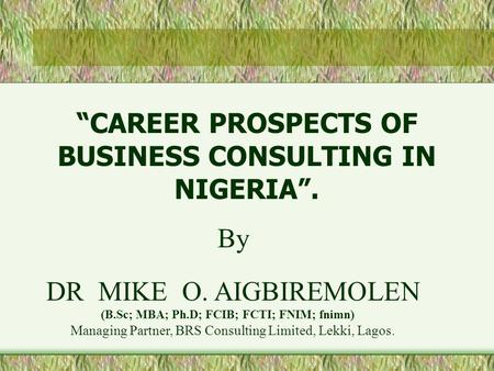 Prospects of advertising in nigeria