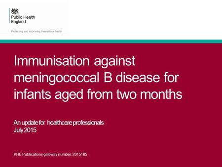 immunisation handbook meningococcal b