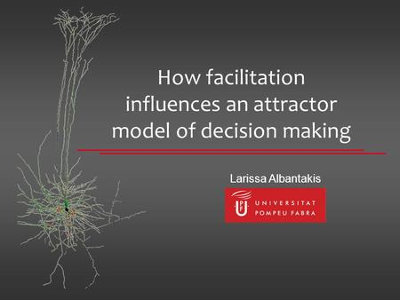 How facilitation influences an attractor model of decision making Larissa Albantakis.