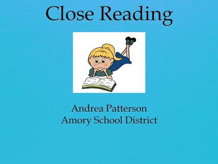 "What Is Close Reading? ""A close reading is a careful and purposeful reading. Well, actually, it's rereading. It's a careful and purposeful rereading of."
