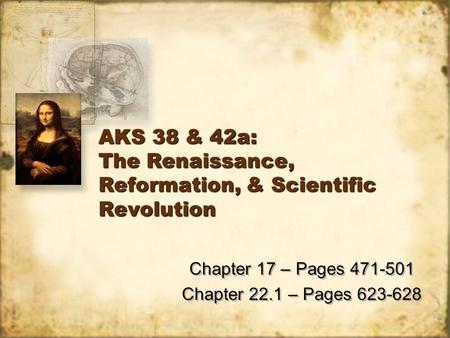 Reformation and the scientific revolution