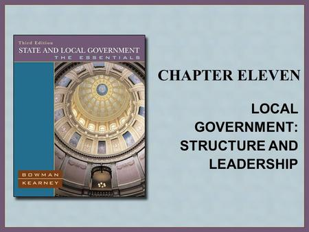 LOCAL GOVERNMENT: STRUCTURE AND LEADERSHIP